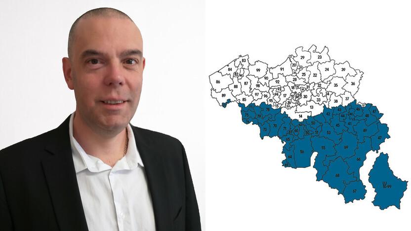 contact person, sales representative, profile and map, Frederic Melotte, Frédéric Mélotte , Rockfon, BE